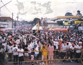 Público Grito Carnaval Reggae. Av. Moacir Dantas Itapicuru